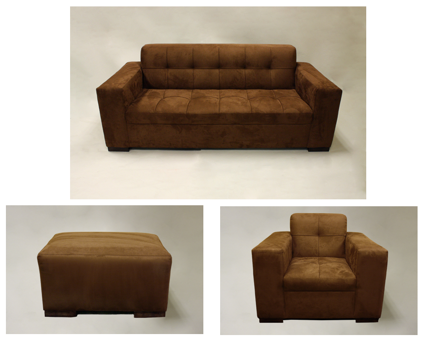 Awesome Signature Party Rentals Faux Suede Brown Sofa Chair Gmtry Best Dining Table And Chair Ideas Images Gmtryco