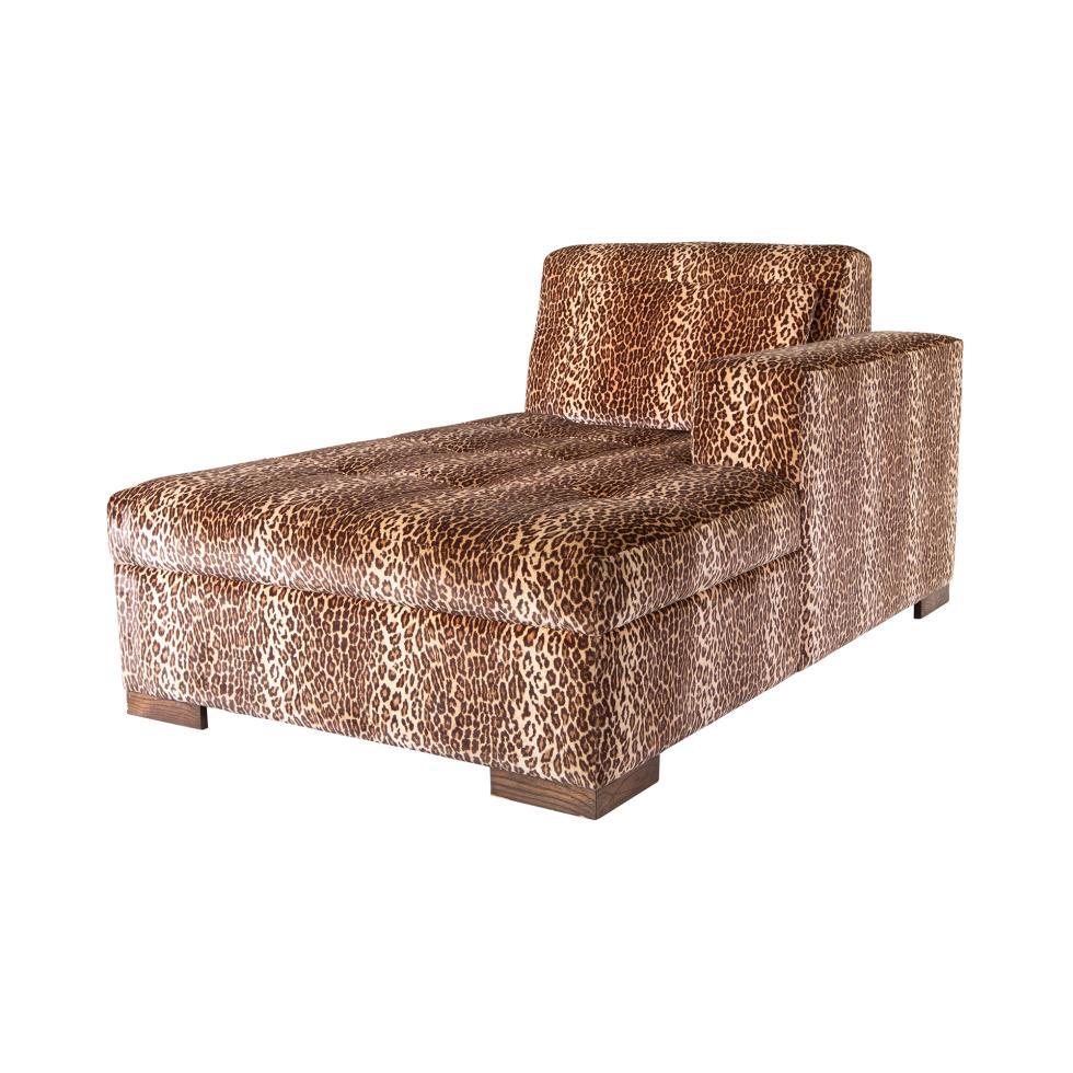 Magnificent Signature Party Rentals Leopard Set Chaise Bench Inzonedesignstudio Interior Chair Design Inzonedesignstudiocom